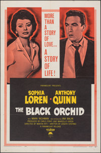 "The Black Orchid & Other Lot (Paramount, 1959). Folded, Fine/Very Fine. One Sheets (2) (27"" X 41""). Romanc..."
