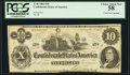Confederate Notes:1862 Issues, T46 $10 1862 PF-2 Cr. 343 PCGS Choice About New 58.. ...
