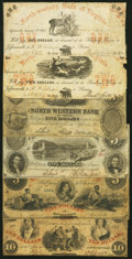 Obsoletes By State:Virginia, A Group of Six Bank Notes from the North Western Bank of Virginia, Jeffersonville Branch ca. 1857-62 Good-Very Good or Better.... (Total: 6 notes)