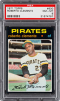 Baseball Cards:Singles (1970-Now), 1971 Topps Roberto Clemente #630 PSA NM-MT 8....