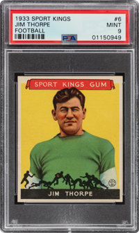 1933 Sport Kings Jim Thorpe #6 PSA Mint 9