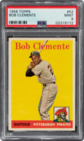 Baseball Cards:Singles (1950-1959), 1958 Topps Roberto Clemente (White Letters) #52 PSA Mint 9 - Only Two Higher....