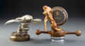 Other, Kissel Bronze White Eagle and Mercury Automobile Mascots, 1927-1929. Marks to eagle: PATS PENDING ... (Total: 2 Items)