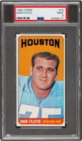Football Cards:Singles (1960-1969), 1965 Topps Don Floyd #75 PSA Mint 9 - Pop Five, None Higher. ...