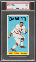 Football Cards:Singles (1960-1969), 1965 Topps Walt Corey #97 PSA Mint 9 - Pop Four, None Higher. ...