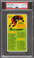 Football Cards:Singles (1960-1969), 1965 Topps Checklist 89-176 (SP) #176 PSA NM-MT 8....