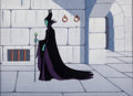 Animation Art:Production Cel, Sleeping Beauty Maleficent Production Cel and Painted Background (Walt Disney, 1959)....