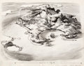 Animation Art:Concept Art, Peter Pan Neverland Layout Drawing Original Art (Walt Disney, 1953)....