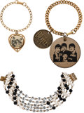 Music Memorabilia:Memorabilia, The Beatles Assortment of Three Vintage Bracelets (3) (1960's). ... (Total: 3 Items)