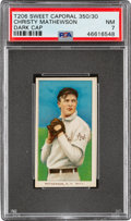 Baseball Cards:Singles (Pre-1930), 1909-11 T206 Sweet Caporal 350/30 Christy Mathewson (Dark Cap) PSA NM 7 - Pop One, Two Higher for B/S/F Combination. ...