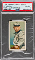 Baseball Cards:Singles (Pre-1930), 1909-11 T206 Sweet Caporal 350/30 Cy Young (Glove Shows) PSA EX-MT 6. ...