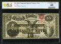 Large Size:Compound Interest Treasury Notes, Fr. 190b $10 1864 Compound Interest Treasury Note PCGS Banknote Extremely Fine 40.. ...