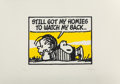 Prints & Multiples, Mark Drew (b. 1978). Still Got My Homies to Watch My Back (Cypress Hill), 2019. Screenprint in colors on dimpled cream p...