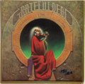 Music Memorabilia:Autographs and Signed Items, Jerry Garcia Signed Blues For Allah Vinyl LP Cover (Grateful Dead)....
