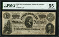 Confederate Notes:1864 Issues, T65 $100 1864 PF-2 Cr. 493 PMG About Uncirculated 55.. ...