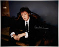 Music Memorabilia:Autographs and Signed Items, Paul McCartney Signed Color Photo....