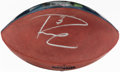 Autographs:Footballs, 2015 Russell Wilson Signed Football With Record Panel....