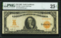 Large Size:Gold Certificates, Fr. 1168 $10 1907 Gold Certificate PMG Very Fine 25 EPQ.. ...