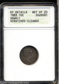 Coins of Hawaii: , 1883 10C Hawaii Ten Cents--Scratched, Cleaned--ANACS. XF ...