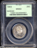 Coins of Hawaii: , 1883 25C Hawaii Quarter MS63 PCGS. Breen-8033. The first ...
