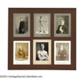 Boxing Collectibles:Autographs, Philadelphia Jack O'Brien Antique Photographs Framed Display
