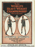 Boxing Collectibles:Memorabilia, Dempsey-Tunney II 1927 Official Fight Program Offered here ...