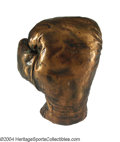 Boxing Collectibles:Memorabilia, Jack Dempsey 1920s Bronzed Fight Worn Boxing Glove Jack ...