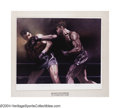 Boxing Collectibles:Autographs, Louis-Schmeling 1973 Signed Print Joe Louis and Max ...