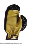 Boxing Collectibles:Autographs, Rocky Marciano & Joe Louis Autographed Glove A black and ...