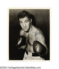 """Boxing Collectibles:Autographs, Rocky Marciano Signed Photograph """"The Brockton Blockbuster""""..."""