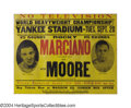 Boxing Collectibles:Memorabilia, Rocky Marciano-Archie Moore Rare 1955 On Site Poster On ...