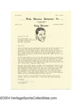 Boxing Collectibles:Autographs, Rocky Marciano Signed Letter (Ali Content) An important ...