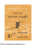 Boxing Collectibles:Autographs, Cassius Clay, Wilma Rudolph & Al Oerter Signed 1960 Olympic ...