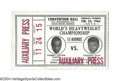 Boxing Collectibles:Memorabilia, Clay-Liston I 1964 Official Ticket Without Stub A ...