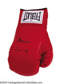 Boxing Collectibles:Autographs, Muhammad Ali - Cassius Clay Signed Glove A mint condition, ...