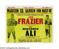 Boxing Collectibles:Memorabilia, 1971 Ali-Frazier I On Site Poster The title of the poster ...