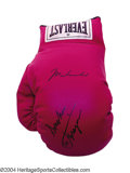 "Boxing Collectibles:Autographs, Muhammad Ali & ""Smoking"" Joe Frazier Signed Glove Bold ..."