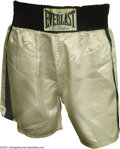 Boxing Collectibles:Memorabilia, Muhammad Ali Fight Worn Trunks From 1974 Joe Frazier II Bout