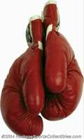 """Boxing Collectibles:Memorabilia, Joe Frazier 1975 Fight Worn Gloves From The """"Thrilla In ..."""