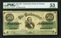 Confederate Notes:1861 Issues, T16 $50 1861 PF-11 Cr. 83 PMG About Uncirculated 53.. ...