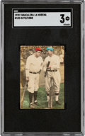 Baseball Cards:Singles (Pre-1930), 1928 Tabacalera La Morena Babe Ruth & Ty Cobb #105 SGC VG 3 - The Only SGC/PSA Graded Example! ...