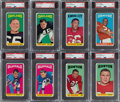 Football Cards:Lots, 1965 Topps Football PSA Graded Collection (8). ...