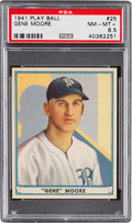 Baseball Cards:Singles (1940-1949), 1941 Play Ball Gene Moore #25 PSA NM-MT+ 8.5 - Pop One, Two Higher....