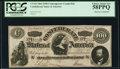 """Confederate Notes:1864 Issues, CT65/491 $100 1864 """"Havana"""" Counterfeit PCGS Choice About New 58PPQ.. ..."""