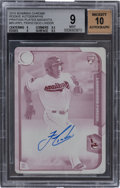 Baseball Cards:Singles (1970-Now), 2015 Bowman Chrome Rookie Autographs Printing Plate Magenta #BCARFL Francisco Lindor BGS MINT 9, Auto 10. ...