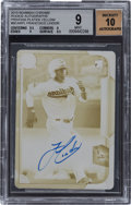 Baseball Cards:Singles (1970-Now), 2015 Bowman Chrome Rookie Autographs Printing Plate Yellow #BCARFL Francisco Lindor BGS MINT 9, Auto 10. ...