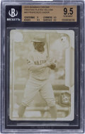 Baseball Cards:Singles (1970-Now), 2015 Bowman Chrome Rookie Printing Plate Yellow #89 Francisco Lindor BGS GEM MINT 9.5. ...