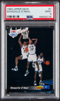 Basketball Cards:Singles (1980-Now), 1992 Upper Deck Shaquille O'Neal #1 PSA Mint 9....