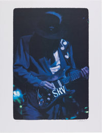 """Stevie Ray Vaughan """"Blues In The Indiana Night"""" Ltd. Print from Original Negative Signed by W.A. Williams"""