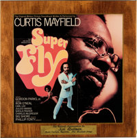 Curtis Mayfield Superfly Appreciation Award Plaque Presented To Kal Rudman, Founder/Publishe